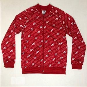 adidas Jackets & Coats - Adidas kids size Medium red zip up